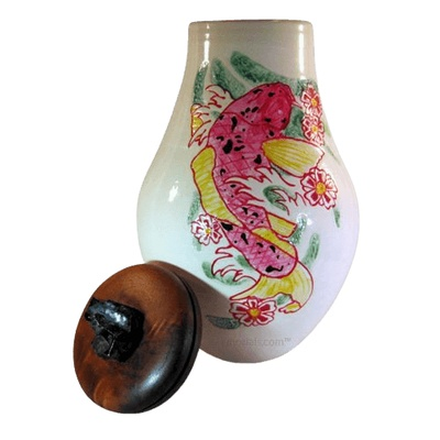 Koi Fish Cremation Urn