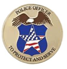 Police Officer Large Medallion Appliques