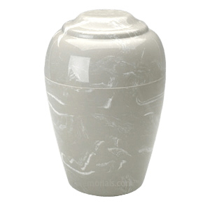 Grecian Silver Gray Marble Cremation Urn II