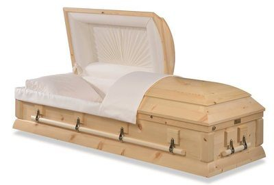 Lewiston Pine Wood Casket
