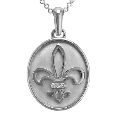 Flower Of The Lily Silver Cremation Pendant