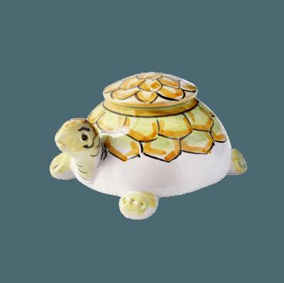 Lotus Turtle Ceramic Keepsake Urn