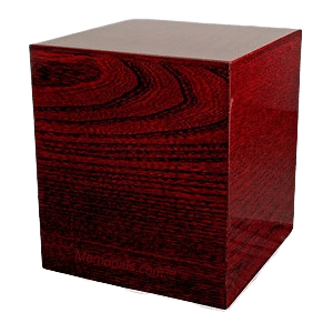 Exotic Mahogany Wood Cremation Urn