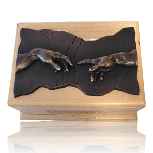 Close to God Maple & Bronze Cremation Urn