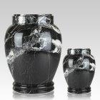 Black Zebra Marble Cremation Urns
