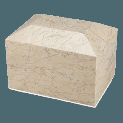 Botticino Square Marble Cremation Urns