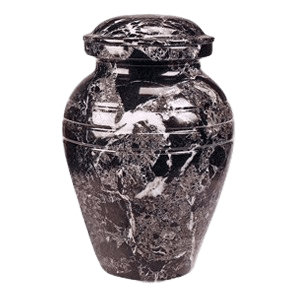Black Classic Marble Cremation Urn