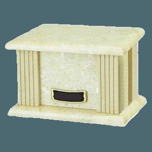 Cream Greek Marble Cremation Urn
