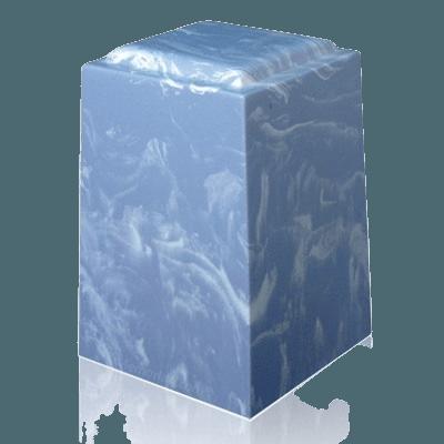 Wedgewood Tone Marble Cremation Urn