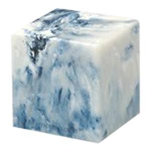 Sapphire Cube Pet Cremation Urns