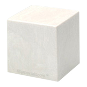 White Cube Pet Cremation Urns
