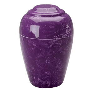 Grecian Amethyst Marble Cremation Urns