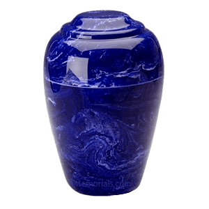 Grecian Cobalt Marble Cremation Urn II