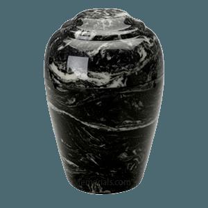 Grecian Ebony Marble Cremation Urn II