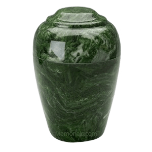 Grecian Emerald Marble Cremation Urns