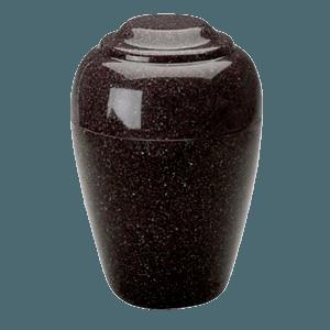 Grecian Kodiak Brown Granite Cremation Urn II
