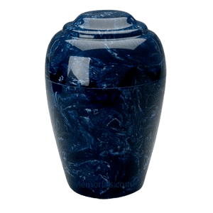 Grecian Navy Marble Cremation Urns