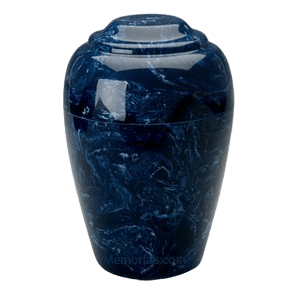 Grecian Navy Marble Cremation Urn II