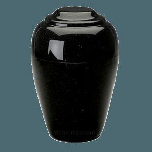 Grecian Orca Black Granite Cremation Urns