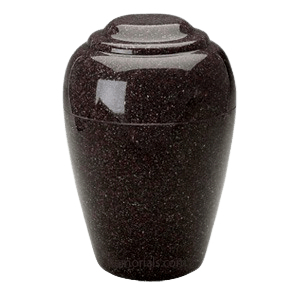 Grecian Vintage Red Granite Cremation Urn II