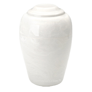 Grecian White Marble Cremation Urn II