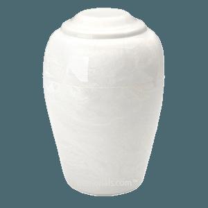 Grecian White Marble Cremation Urn II