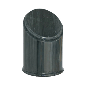 Crown Black Small Marble Urn