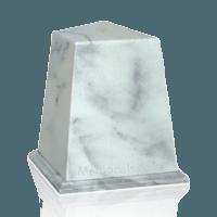 Obelisk White Marble Urn