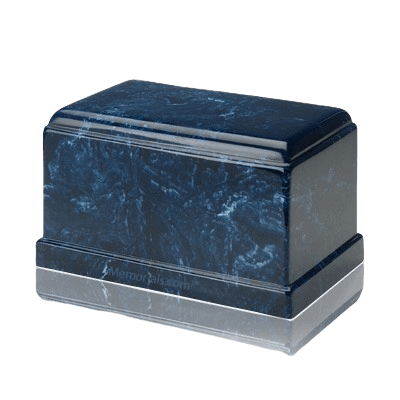 Olympus Navy Marble Cremation Urn