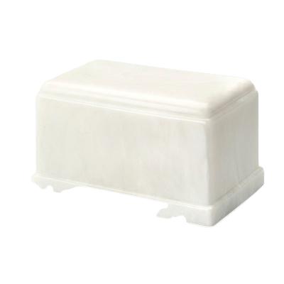 Olympus White Marble Cremation Urn