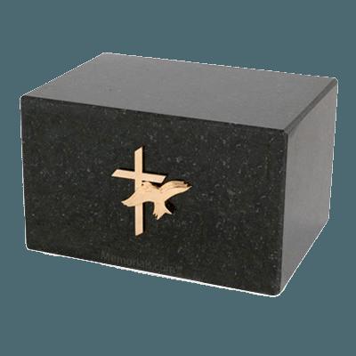 Nostalgia Black Marble Cremation Urn
