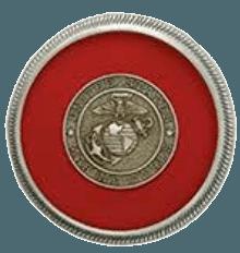 Marine Red Medallion Appliques