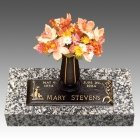 Mary & Lamb Children Bronze Grave Marker