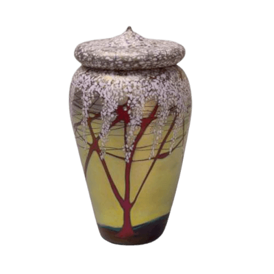 Cherry Bloom Cremation Urn