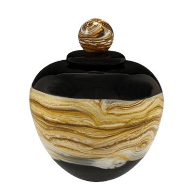 Memoriam Black Medium Art Urn