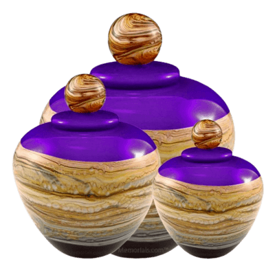 Memoriam Purple Art Cremation Urns