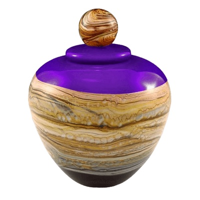 Memoriam Purple Large Art Urn
