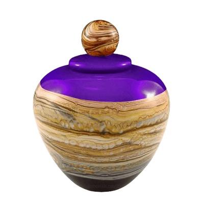 Memoriam Purple Medium Art Urn