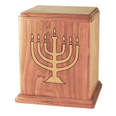 Menorah Oak Cremation Urn