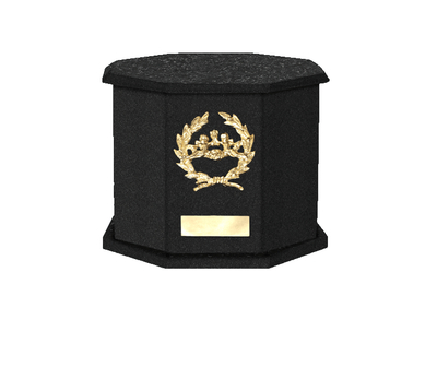 Mila Nero Cremation Urn