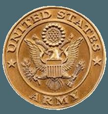 Army Coin Medallion Appliques