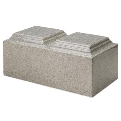 Mist Gray Granite Companion Cremation Urn