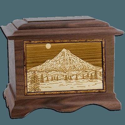 Mt Hood Walnut Companion Urn for Two