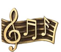Musica Medallion Appliques