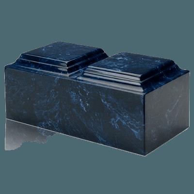 Navy Marble Companion Urn