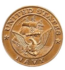 Navy Coin Medallion Appliques