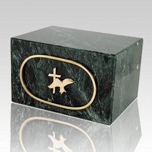 Nostolgica Dark Green Marble Cremation Urn
