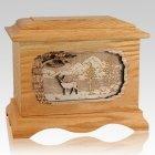 Deer Oak Cremation Urn