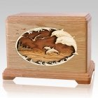 Dolphins Oak Hampton Cremation Urn