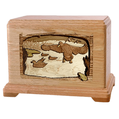 Marshland Melody Oak Hampton Cremation Urn
